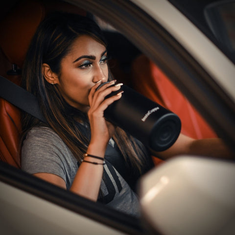 InstaCuppa Thermos Green Tea Infuser Bottle 550 ML - Perfectly Fits Into Your Car Cup Holder
