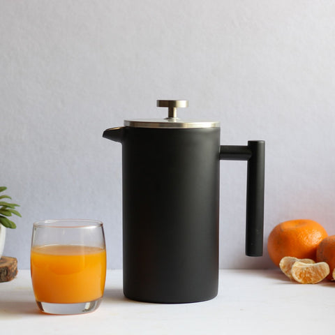InstaCuppa Stainless Steel French Press Coffee Maker - Perfect For Making Fruit Squash