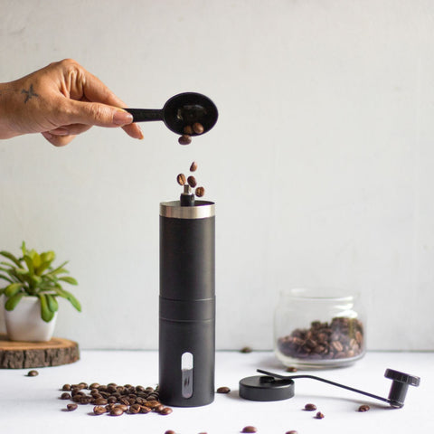 InstaCuppa Manual Coffee Grinder - How To Use - Step 1