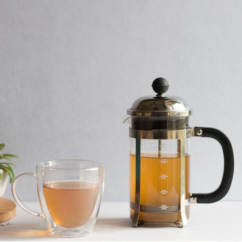 InstaCuppa French Press Coffee Maker - Perfect for Brewing Green Tea