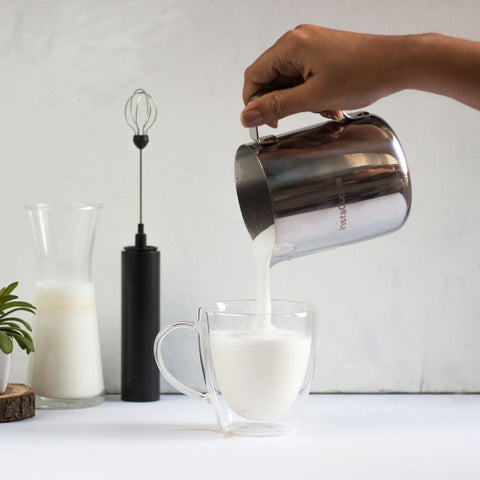 InstaCuppa Milk Frothing Pitcher Jug with Easy To Pour V-Spout