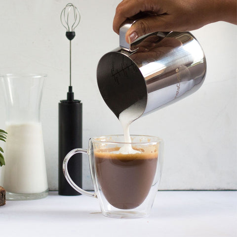 InstaCuppa Milk Frothing Pitcher Jug - Perfect For Making Specialty Coffee