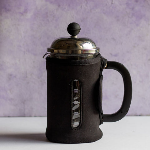 InstaCuppa French Press Coffee Maker with Neoprene Sleeve Add-on For Protection And Insulation
