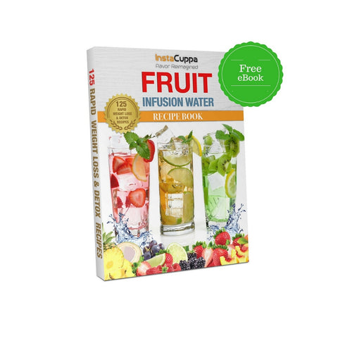 InstaCuppa Borosilicate Glass Infuser Pitcher 1300 ML - Includes Free Fruit Infused Detox Recipes eBook