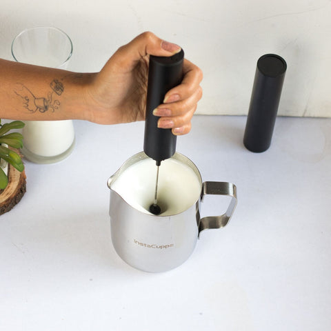InstaCuppa Milk Frothing Pitcher Jug - Add Froth To Your Milk Easily