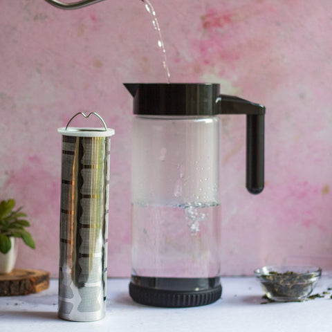 InstaCuppa Borosilicate Glass Infuser Pitcher 1300 ML - How To Brew Green Tea - Step 2