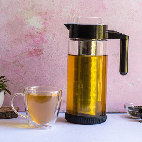 InstaCuppa Borosilicate Glass Infuser Pitcher 1300 ML - How To Brew Green Tea - Step 4