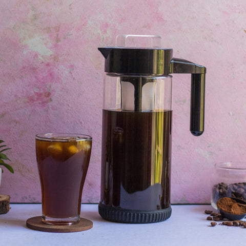 InstaCuppa Glass Infuser Pitcher 1300 ML with Premium Grade Borosilicate Glass Construction