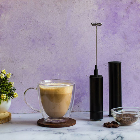 InstaCuppa Travel Milk Frother / Coffee Beater with Rechargeable Battery - How To Make A Cappuccino Step 4