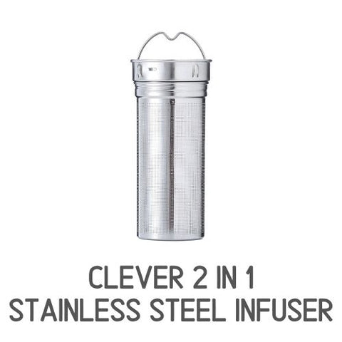 InstaCuppa Thermos Green Tea Infuser Bottle 550 ML with Stainless Steel Infusion Unit