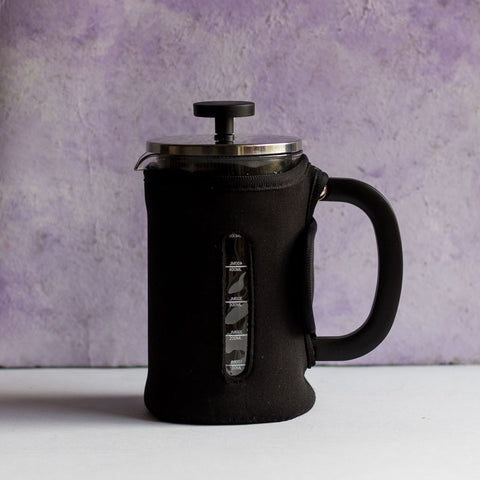 InstaCuppa French Press Coffee Maker with Neoprene Sleeve For Extra Protection And Insulation