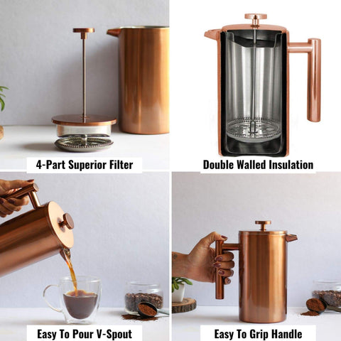 Order Doubled Walled Insulation French Press Coffee Maker Online