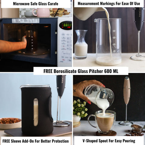 Buy InstaCuppa Milk Frother and Get BPA Free Glass Pitcher
