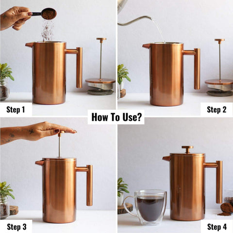 How to Use Copper French Press Coffee Maker