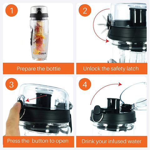InstaCuppa Infuser Bottle Spare And Replacement  Lid - Accessory