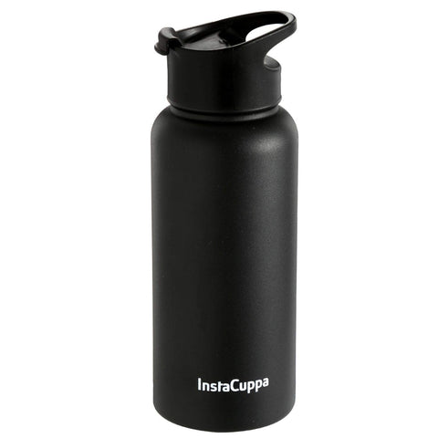 Image of InstaCuppa Thermos Bottle with Flip Top Carry Lid 1000 ML/550 ML, Double-Wall Thermos Flask, Vacuum Insulated Stainless Steel | Retains Hot and Cold Temperatures