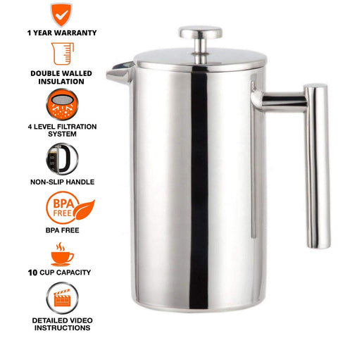 Order BPA Free French Press Coffee Maker Online on InstaCuppa Store
