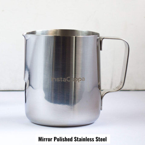 InstaCuppa Stainless Steel Milk Frothing Pitcher 600 ml with Mirror Polished Finishing