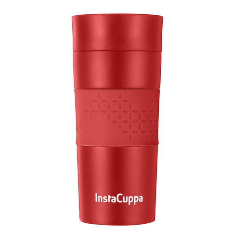 InstaCuppa Thermos Steel Travel Mug for Coffee, Tea with Double Walled Vacuum Insulation, Sipper Lid, Silicon Grip