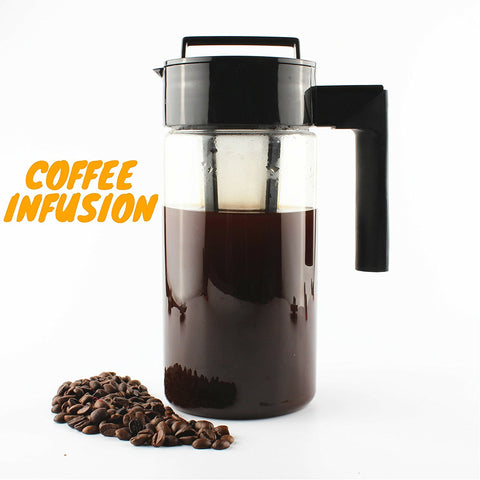 Instacuppa Fruit Infuser Pitcher Cold Brew Coffee Maker 1300Ml +125 Fruit Infused Detox Water Recipes Ebook