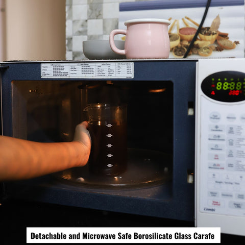 Image of InstaCuppa French Press Coffee Maker Oven Safe