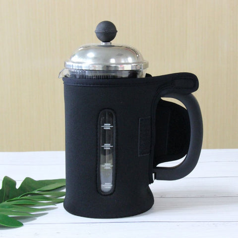 Image of InstaCuppa French Press Neoprene Sleeve Add On for Protection & Insulation, Compatible with Any 600 ML Coffee Press Model