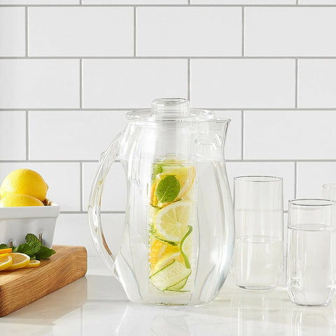 InstaCuppa Acrylic Fruit Infuser Water Pitcher 2700 ML with Full Length Infuser Core