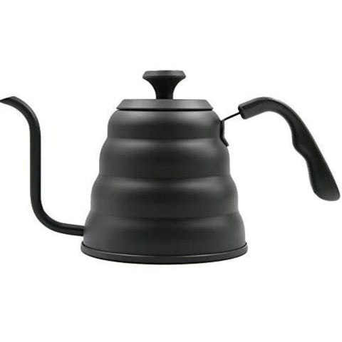 InstaCuppa Stainless Steel Pour Over Coffee & Tea Kettle with Built-in Thermometer, Gooseneck Spout, Easy to Grip Handle