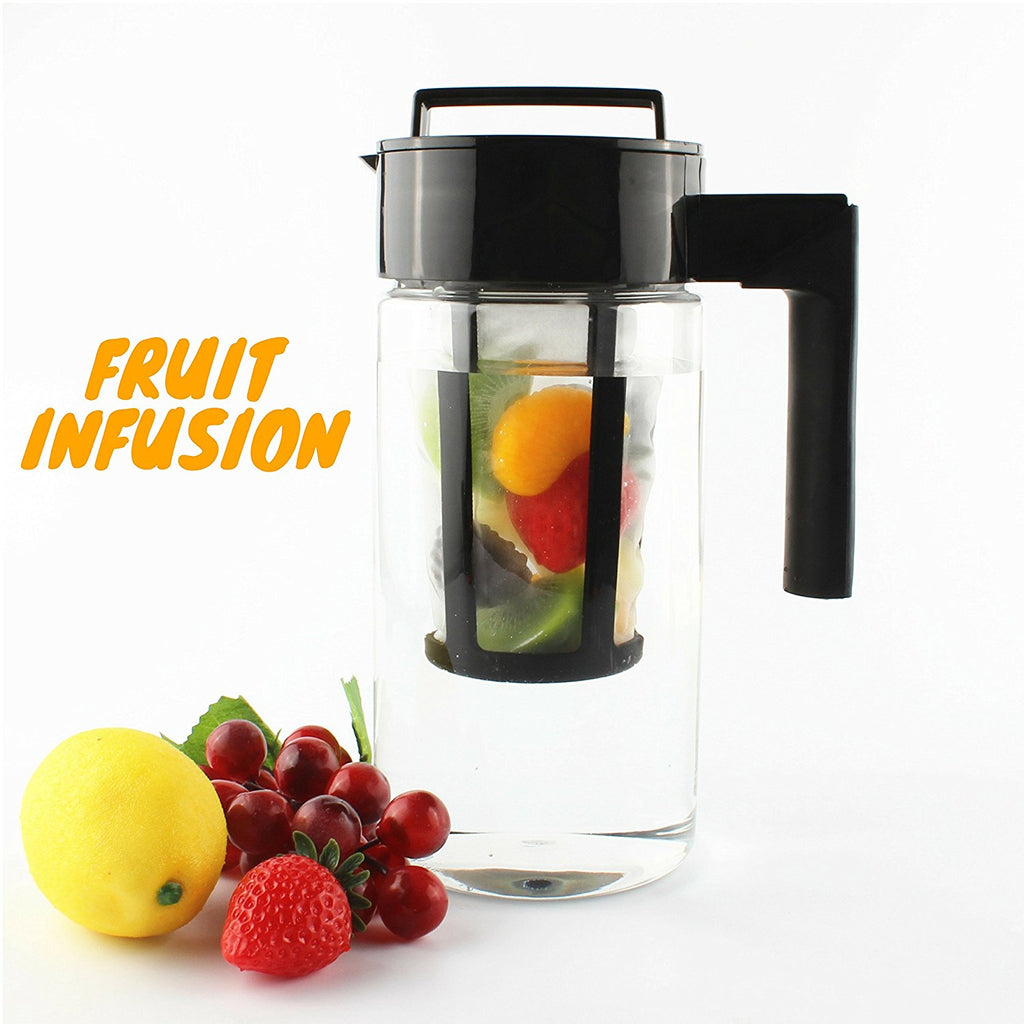 InstaCuppa Tritan Infuser Pitcher 1300 ML for Cold Coffee and Iced Tea with Nylon Mesh Infusion Unit, 2 Recipe eBooks and Cleaning Brush