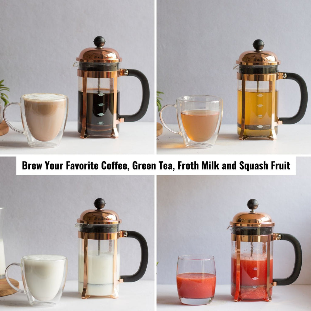 Brew Coffee with InstaCuppa French Press Coffee Maker Online