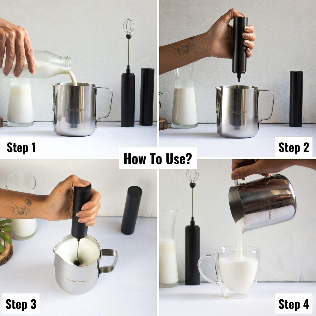 InstaCuppa Stainless Steel Milk Frothing Pitcher 600 ml - How To Add Froth To Your Milk?