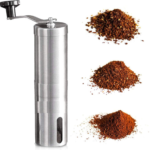 InstaCuppa Manual Hand Coffee Bean Grinder with Adjustable Ceramic Burr Settings