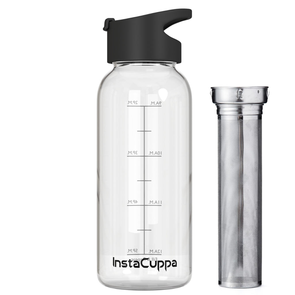 InstaCuppa Glass Infuser Water Bottle