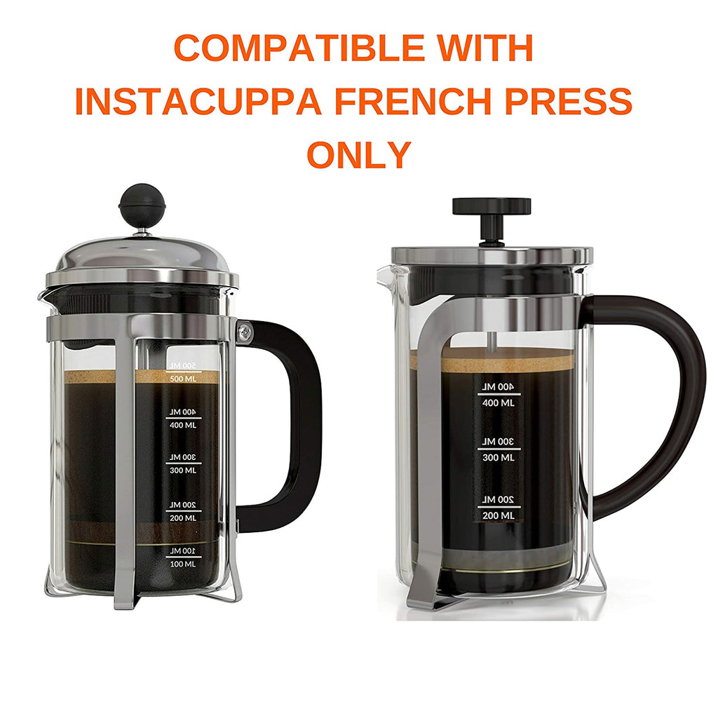 InstaCuppa Spare Glass Carafe For French Press Coffee Maker 600ml /1000ML