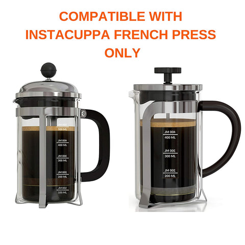 Image of InstaCuppa Spare Glass Carafe For French Press Coffee Maker 600ml /1000ML