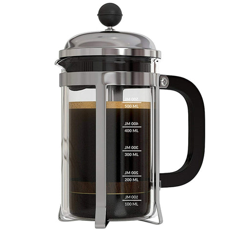 Image of InstaCuppa French Press Coffee Maker with 4 Part Superior Filtration, Premium Grade Stainless Steel Coffee Plunger,