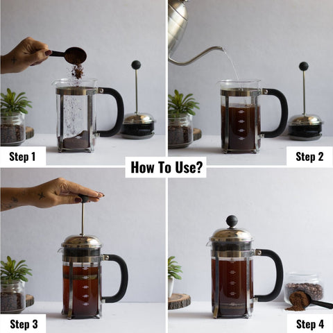 How to use InstaCuppa French Press Coffee Maker