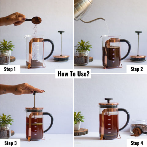 Image of uses of french press coffee maker