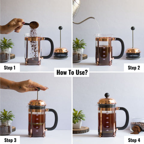 How to use InstaCuppa French Press Coffee Maker Online