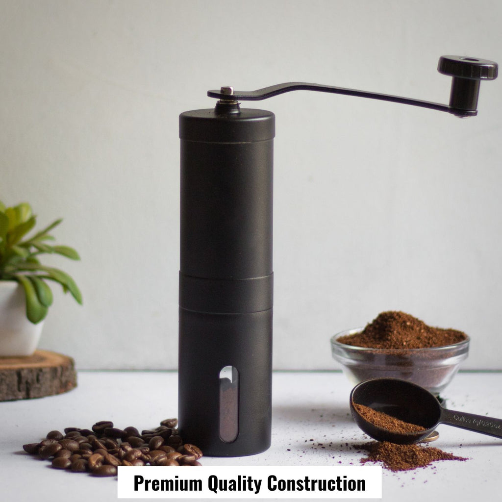 InstaCuppa Manual Hand Coffee Bean Grinder,Black Color - Premium Quality Construction