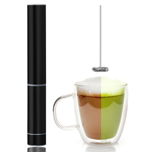 InstaCuppa Travel Milk Frother Battery Operated - Premium Black Color