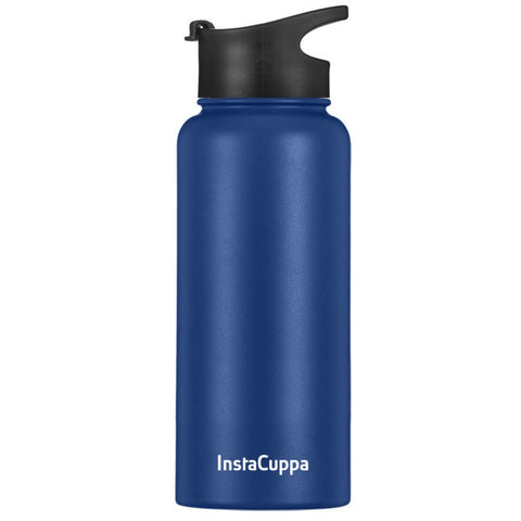 Image of Blue InstaCuppa Thermos water bottle