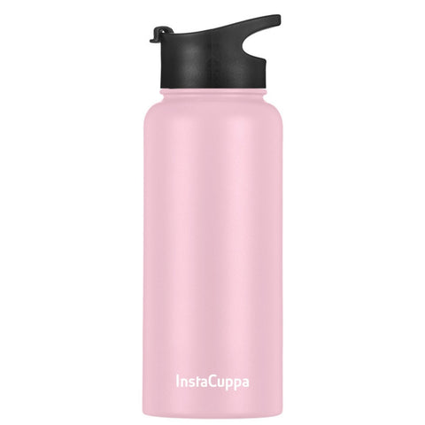 Image of Pink Thermos Infuser Bottle