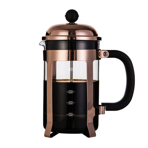 Image of InstaCuppa French Press Coffee Maker with 4 Part Superior Filtration, Premium Grade Stainless Steel Coffee Plunger,600 ML / 1000 ML