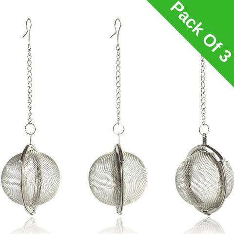 InstaCuppa Stainless Steel Tea Infuser / Strainer Ball - Pack Of 3