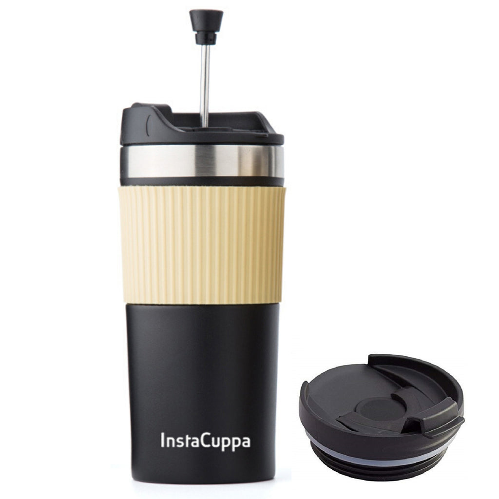 InstaCuppa Vacuum Insulated Travel French Press Mug 400 ML