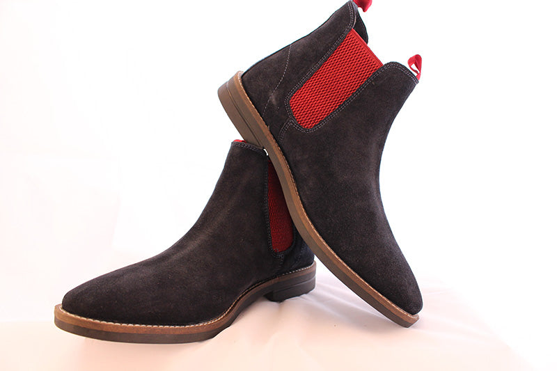 Men S Blue Suede Chelsea Boots Philip James Shoes