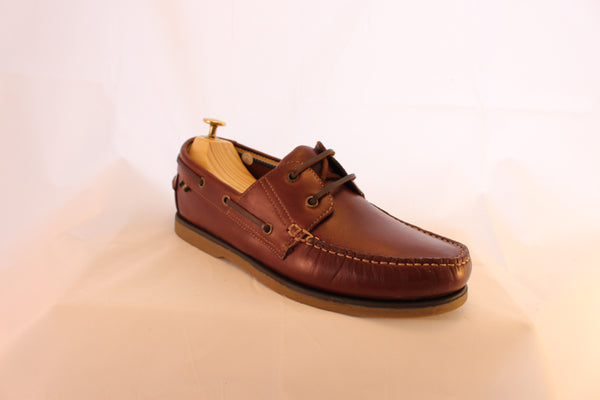 1f9ad0839c Men s Brown Leather Boat Deck Shoes - Philip James Shoes