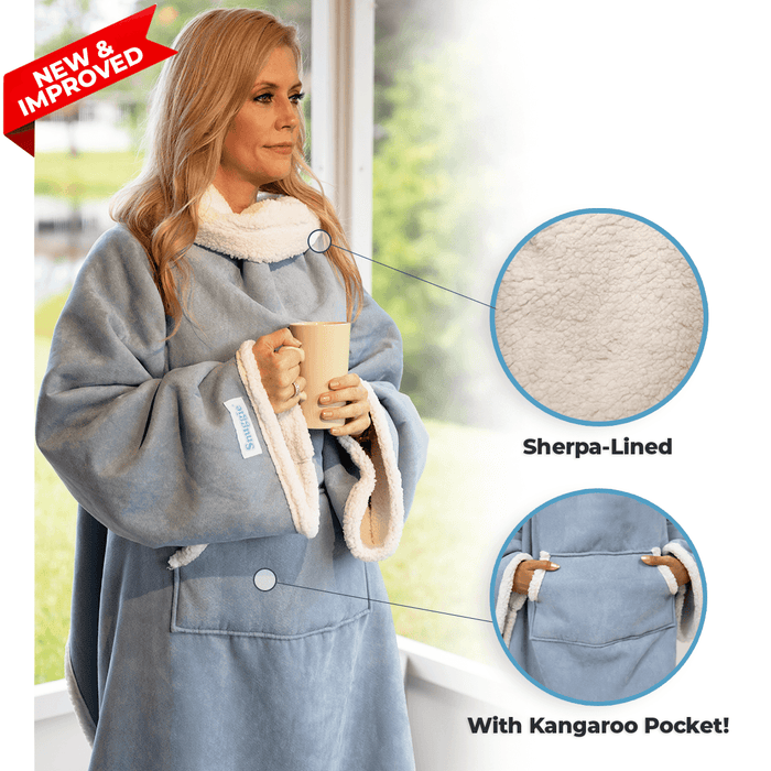 NEW & Improved! Snuggie® Sherpa Dusty Blue