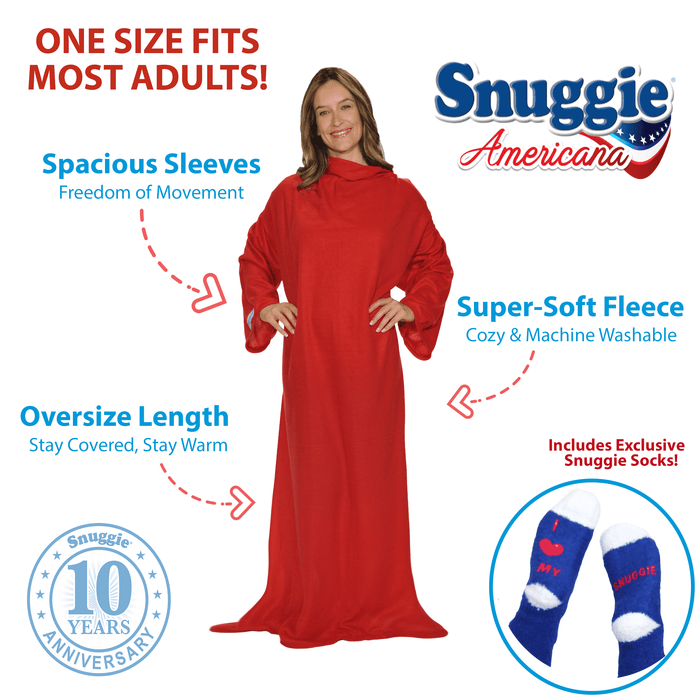 Red Americana Snuggie® Blanket